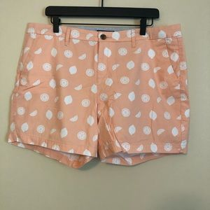Old Navy Peach and White Fruit Printed Shorts